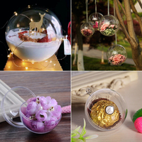 for vip 100pcs Transparent Ball Candy Boxes Romantic Design Christmas Decorations Transparent Ball