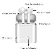 I7S мини-наушник bluetooth TWS беспроводные наушники в ухо Беспроводная гарнитура для Ipad Blutooth наушники для Iphone для xiaomi