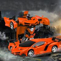 Kids Rechargeable Remote Control Deformation Car > 3 Years Old Robot Toy 3 x Battery 2 x AA Battery One Button
