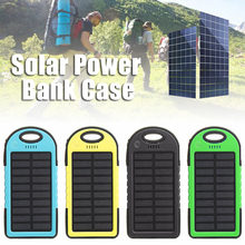 Efficient solar panel Portable 5000mah Dual 2 USB Solar Power Bank Battery Case Cover Cell Phone Charger Blue/Black/Green/Yellow jy 26 universal dual usb 5000mah solar energy powered power source bank for samsung iphone white