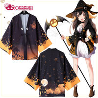 Milky Way Halloween theme Witch Haori Traditionnel Haori Halloween Jacket Japanese Haori Women Coat Haori Cardigan Average Size