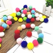DIY Crafts 15mm/200pcs Round Shaped Pompom Plush Ball Mixed Color Soft Fluffy Pom Pom for Wedding Decoration