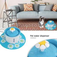1.6L Automatic Dog Cat Electric Mute Water Fountain Pet Bowl Drinking Water Feeding Dispenser Filter with Mat