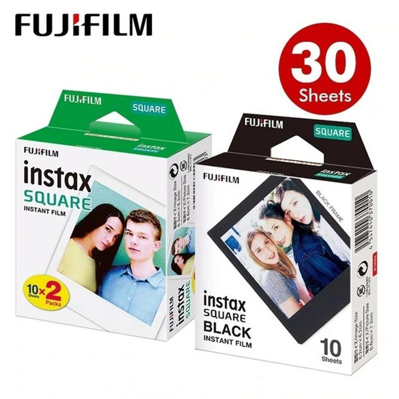 Photo Paper For Fujifilm Instax Square Film White Black Edge For SQ10 SQ6 SQ20 Instant Camera Share SP-3 Printer Daylight Type