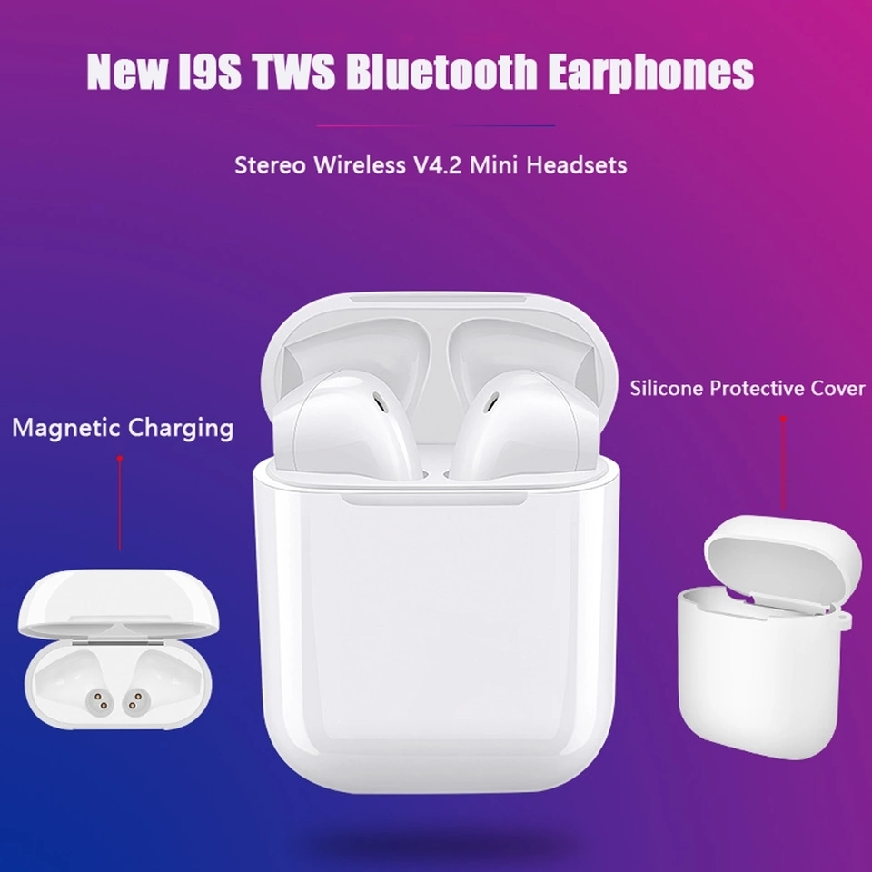 i9s TWS Mini Bluetooth Wireless Earphone Headset With Charger Box for all smart Phone Earbuds Free shipping in Bluetooth Earphones Headphones from Consumer Electronics