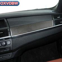 hot deal buy for bmw e70 e71 carbon fiber car copilot decoration strip refit frame back air vent  reading lamp stickers interior accessories