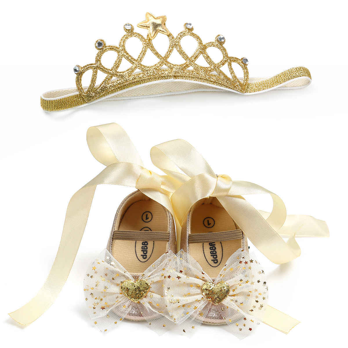 Emmababy รองเท้าผ้าใบเด็กผู้หญิง Bowknot Sequins 2018 Casual Anti-SLIP รองเท้าผ้าใบนุ่มรองเท้า + แถบคาดศีรษะเจ้าหญิงรองเท้า