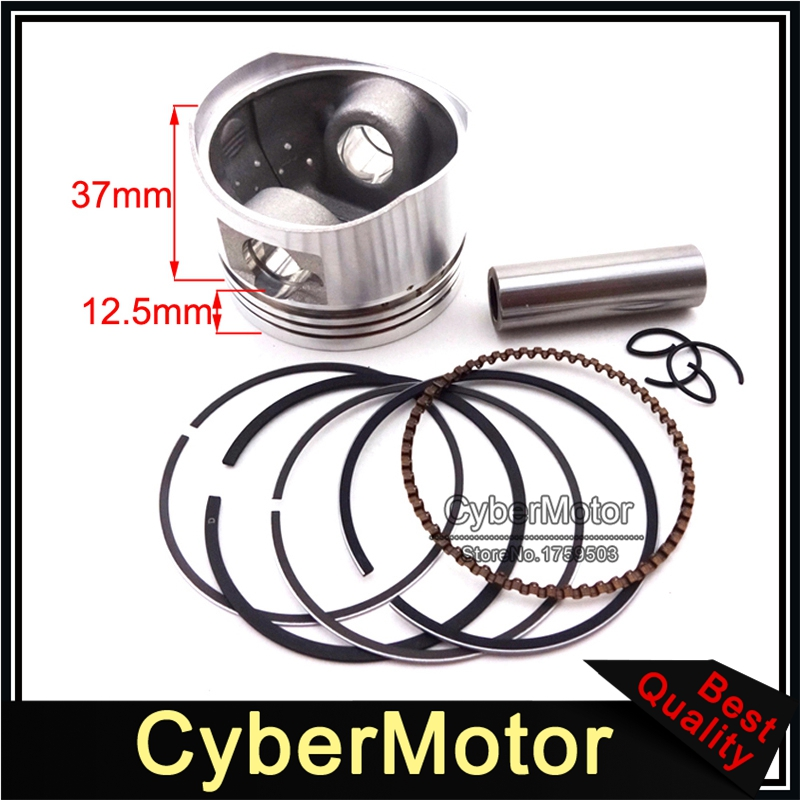 <font><b>52mm</b></font> <font><b>Piston</b></font> 13mm Pin <font><b>Ring</b></font> Kit For Chinese Lifan 110cc Engine Pit Dirt Trail Motor Bike ATV Quad 4 Wheeler Motorcycle image