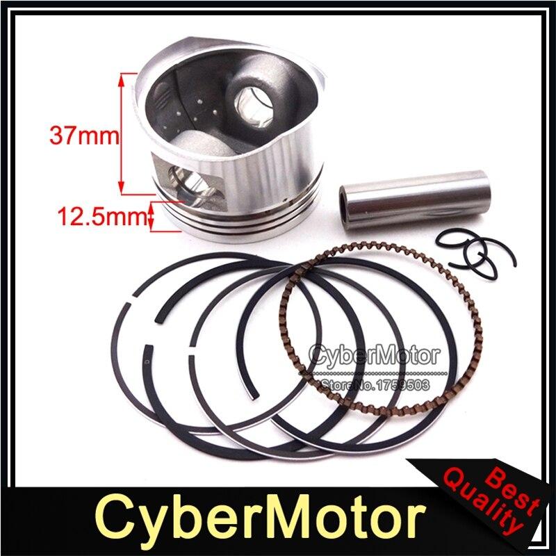 United 52.4mm 13mm Pin Piston Rings Kit 110cc 125cc Engine Quad Dirt Bike Atv Buggy Non-Ironing Automobiles & Motorcycles