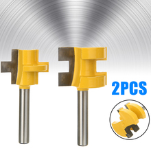 2Pcs Woodworking Chisel Cutter 2 Bit Tongue And Groove Router Bit 1/4