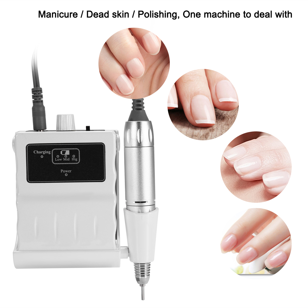 30000RPM Electric Nail Art Drill Manicure Pedicure Machine Nails Art Equipment Drilling Grinding Pen Nail Drill