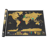 82.5*59.5 CM Retro World Maps Creative Scratch Maps with tube For Kids Gift DIY Decoration School Office Supplies Stationery