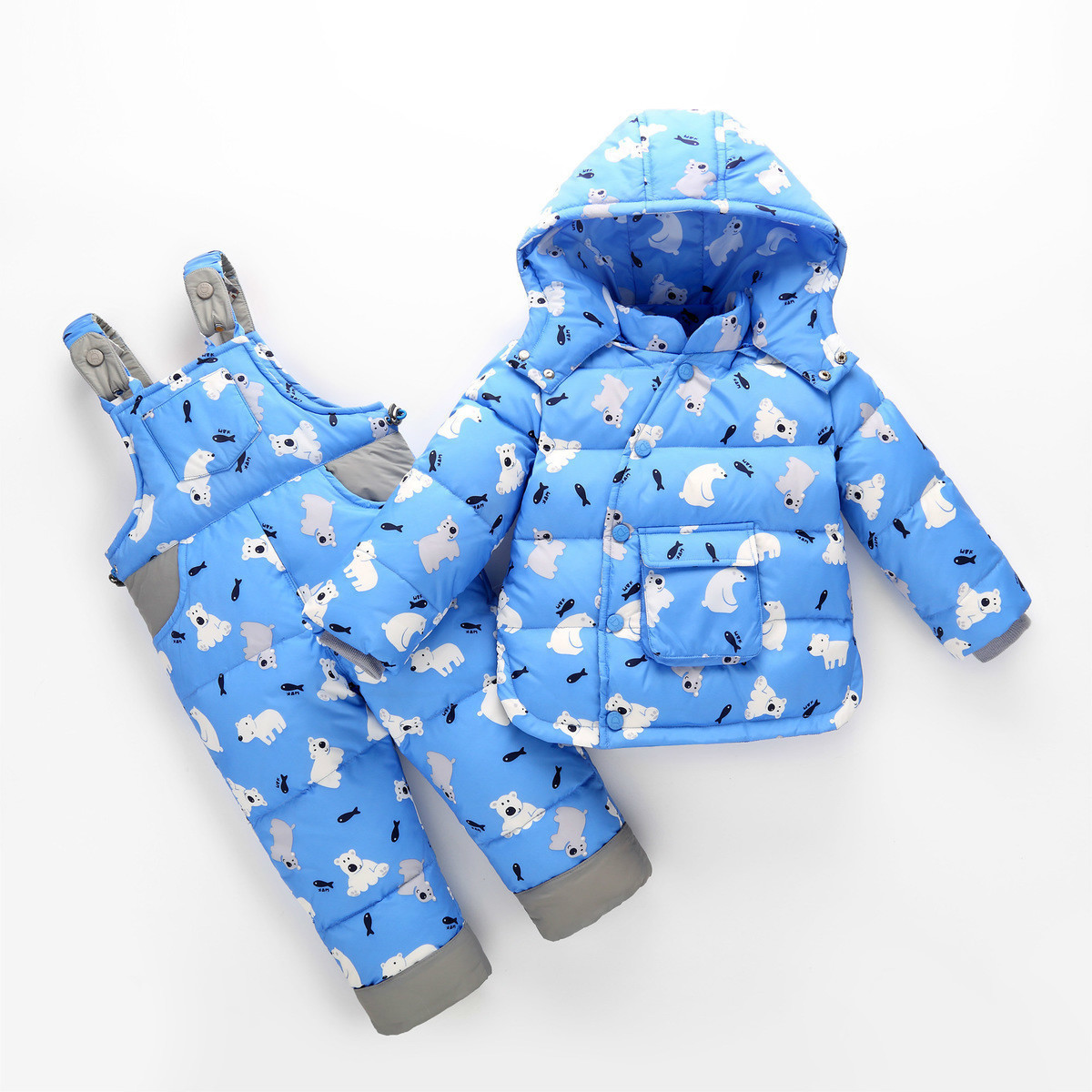f3299202c8ab2 Boys Girls Infant Clothing Baby Winter Coats 2018 For Coat Duck Outwear  Toddler Snow Wear 2pcs Sets Cartoon Down Thick Snowsuit ~ Hot Deal June 2019