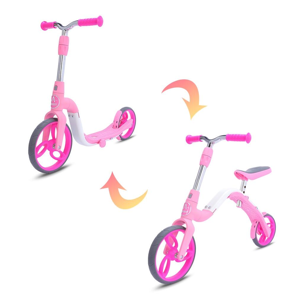AEST B02 Mini trottinette bébé 3 en 1 vélo d'équilibre monter sur des jouets pour les enfants de 3 à 5 ans grande roue réglable en hauteur jouet sport - 3