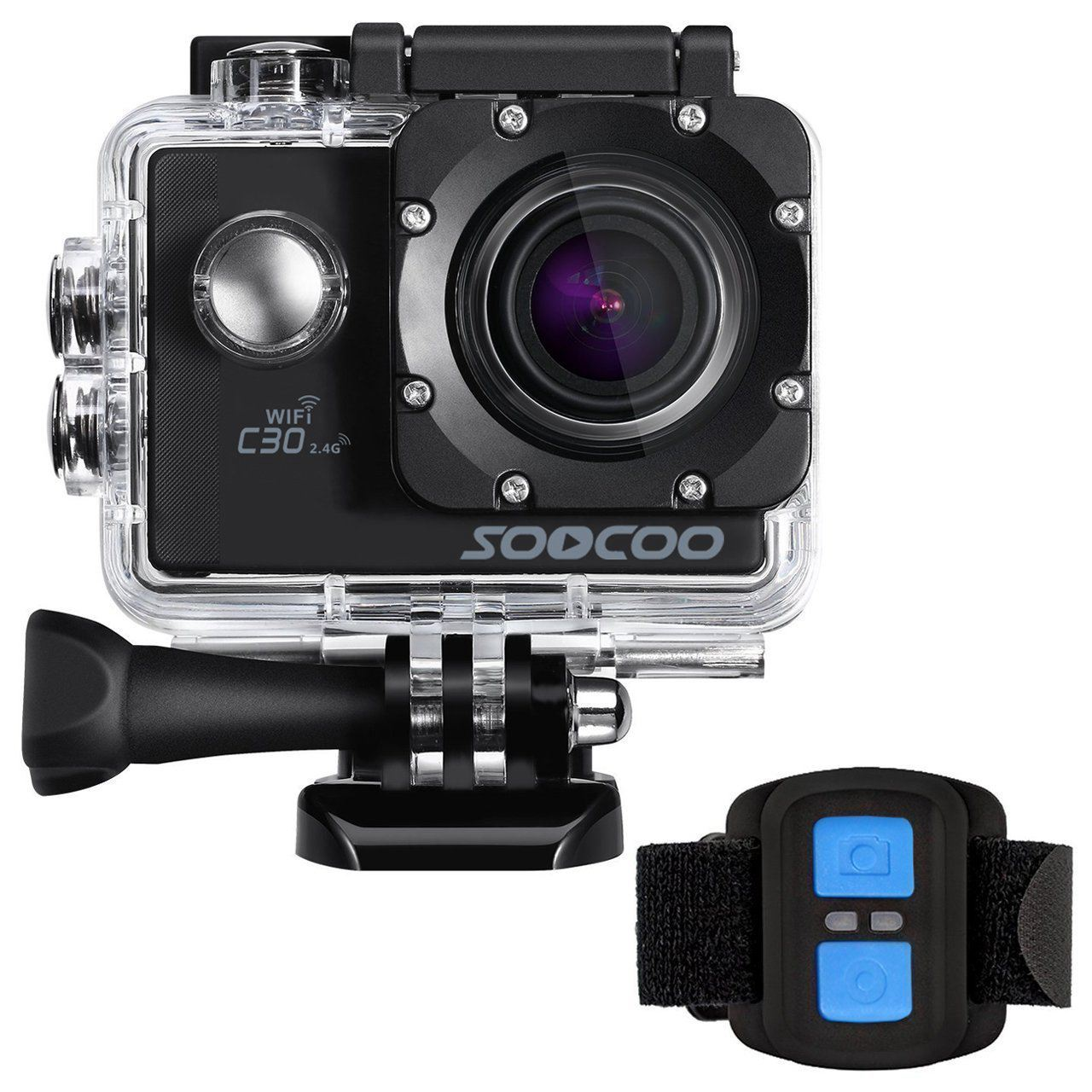 Caméra d'action chaude TTKK SOOCOO C30R 4 K Gyro Wifi angle de vision réglable 170 degrés 2.0 LCD NTK96660 30 M caméra étanche