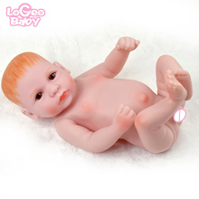 Logeo Baby Full Vinyl Reborn Doll 10 Boy bebes reborn doll Toy Realistic lol dolls Newborn Model Child Birthday