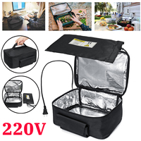 220V Mini Personal Portable Lunch Oven Bag Instant Food Heater Warmer Electric Oven PE Alloy Heating Lunch Box Office