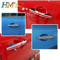 For MINI Countryman R60 Accessories Door Handle Sticker Decals For MINI Cooper Clubman R55 R56 R57 R58 R59 R60 R61 Car Styling
