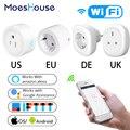 Великобритания  США  ЕС  Wi-Fi  умная розетка  розетка  пульт дистанционного управления  энергетический монитор работает с Amazon Alexa Google Home  не тре...