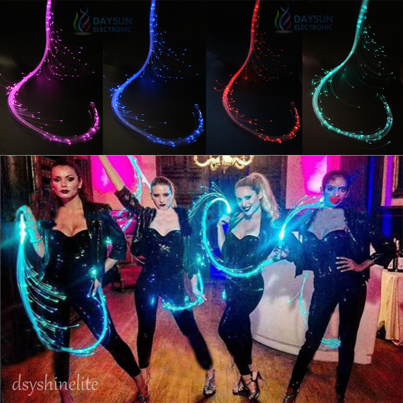 Creative Dance Light Optic Cable Light Whip for Party Show Club Stage Performance Sensory Lamp 360
