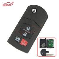 Kigoauto 315MH 4D63 BGBX1T478SKE125 01 Flip 3+1 4 Button Remote Key Fob for Mazda 3 6 MX 5 Miata CX 7 CX 9 RX 8