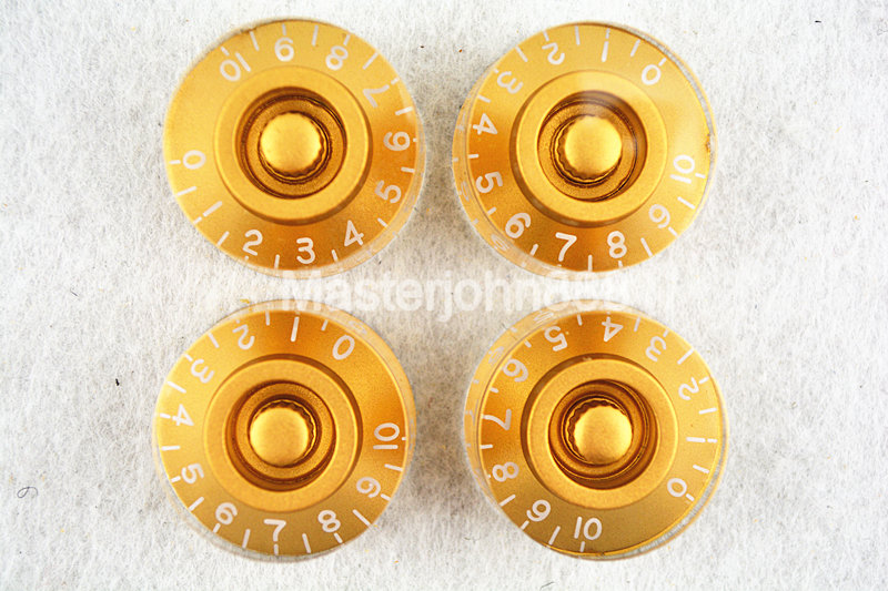 1 Set Of 4pcs Gold Electric Guitar Control Knobs Flying Saucer Speed Volume Tone Knobs For LP SG Electric Guitar