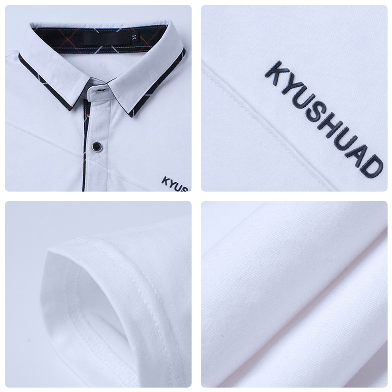 5XL Polo Shirt Collar Men Plus Size 3XL 4XL Autumn Button Brand Men Polo Shirt Long Sleeve Casual Male Shirt Dress Polo Shirts 6