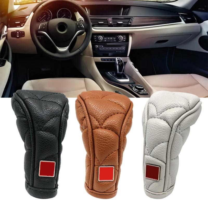 Anti-Slip Zipper Closure Universal Car Gear Shifter Knob Cover Car Shift Knob Cover Interior Accessories