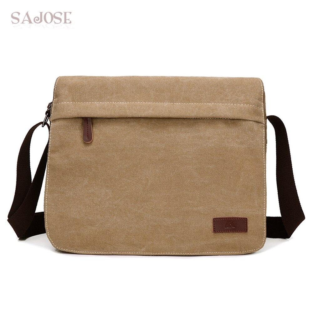 Men Bags Army Shoulder-Bag Crossbody-Bag Canvas Messenger Vintage Fashion Designer Brand