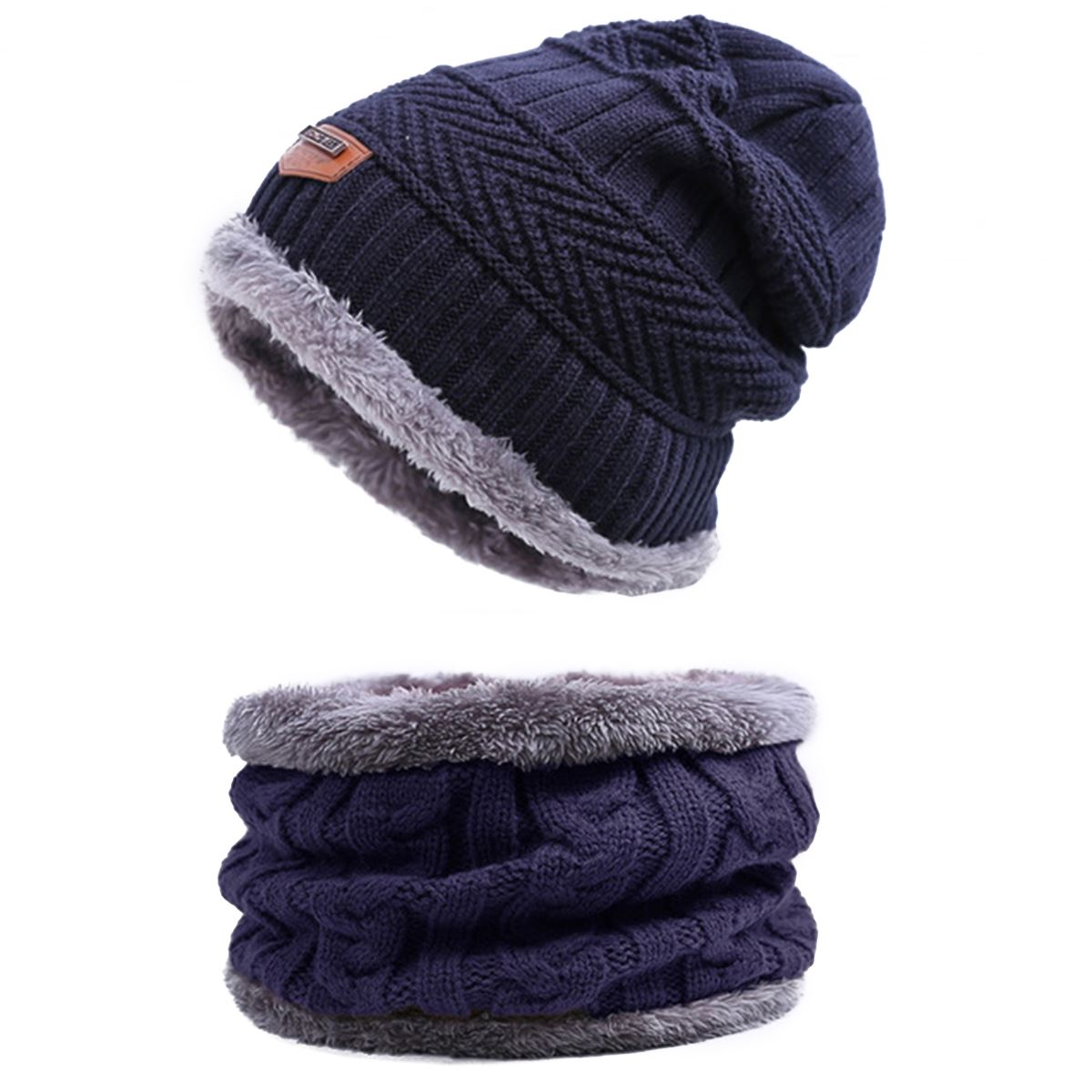 4a1c6f045d0d URDIAMOND Winter Hat Scarf Set Men Unisex 6 Colors Knitting Hat Scarf Set  Warm Wool Cap