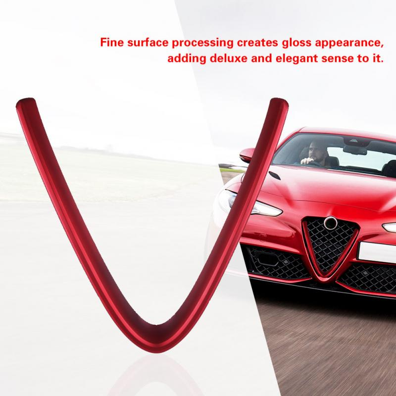 Lightweight Anti-rust Car Interior Front Grill V Shape Grille Cover Trim for Alfa Romeo Giulia 2017-2018 High Quality(China)