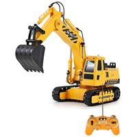 DOUBLEE E511 003 Funny Toy Remote Control Excavator RC Crawler Charging RC Car Excavator RTR Gift For Children Adult