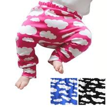 Штаны-шаровары с принтом облаков; брюки; леггинсы для новорожденных; леггинсы для маленьких мальчиков и девочек; спортивные штаны; хлопковые брюки для малышей; одежда