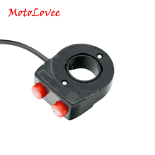 MotoLovee 22mm Motorcycle Bike Handlebar Modified Parts Switch On Off Button Head Spot Fog Light Switches
