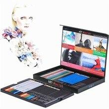 60 farben Professionelle Kreative Holz Farbe Bleistifte Kunst Liefert Skizze Bleistift Set Für Malerei Zeichnung Künstler Stift 03159