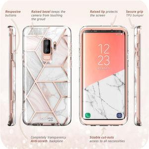 Image 5 - Abdeckung Für Samsung Galaxy S9 Fall ich Blason Cosmo Volle Körper Glitter Marmor Stoßstange Schutzhülle mit Gebaut in Screen Protector