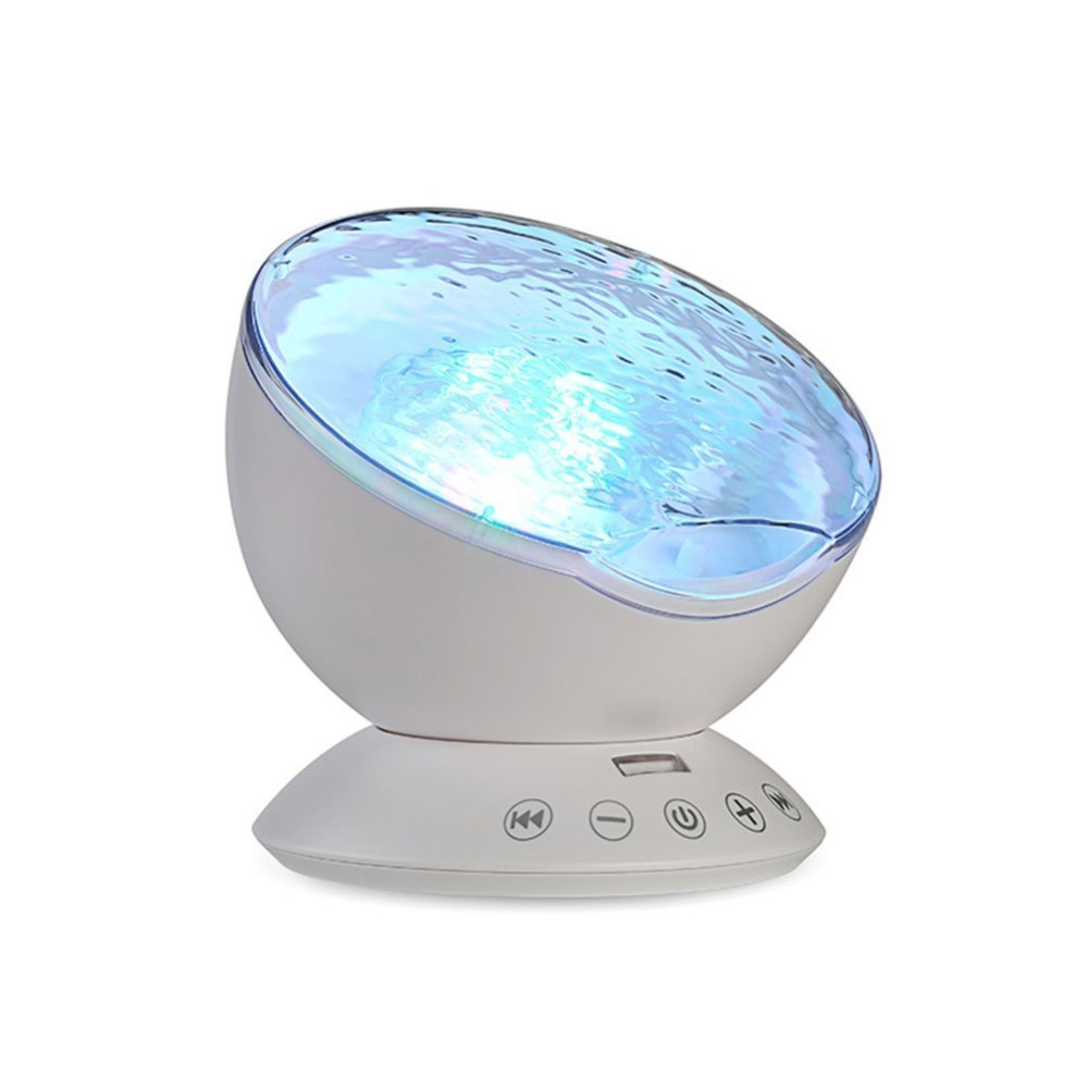 Ocean Wave LED Night Light Magic Starry Sky Aurora Projector Lamp Cosmos Universe Luminaria Baby Nursery Light For Birthday Gift