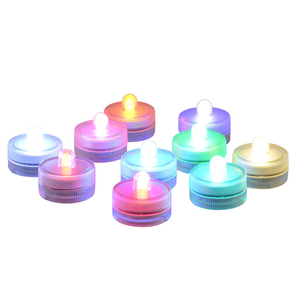 10pcs Submersible LED Lights Party Lights For Vase Wedding Decoration Underwater Tank Light Home Wedding Holiday Lamp