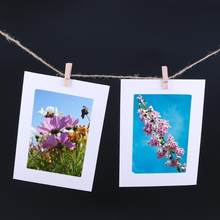 10pcs/set 3/4/5/6/7 inch Paper Photo Frame For Pictures Vintage Frame with Clips Rope Combine DIY Wall Photo Hanging Home Decor(China)