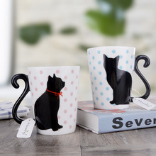 Милая кофейная кружка с котом японская керамика чайная чашка парные чашки и кружки