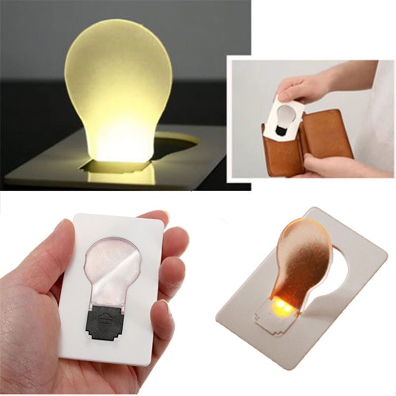 Hot Sale EDC LED Card Light Pocket Lamp Purse Wallet Emergency Light Outdoor Tools  Paper Card Emergency Lingting Tools
