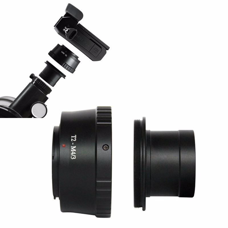 """T2 Ring for Olympus Micro 4//3 Lens Adapter+1.25/"""" 31.7mm Telescope Mount Tube"""