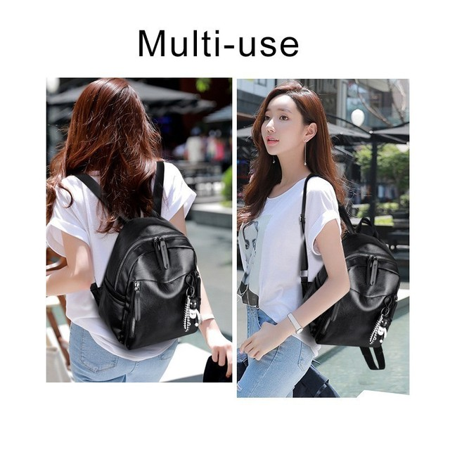Herald Fashion Women Backpack High Quality PU Leather Backpacks for Teenage Girls Female School Shoulder Bag Bagpack mochila