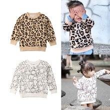 Детский свитер; детская одежда для мальчиков и девочек с леопардовым принтом кролика; милый комплект одежды для маленьких девочек; Oullovers От 1 до 7 лет; верхняя одежда