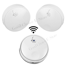 Wireless Cordless Doorbell Remote Door Bell Chime,One Button and Two Receivers,N