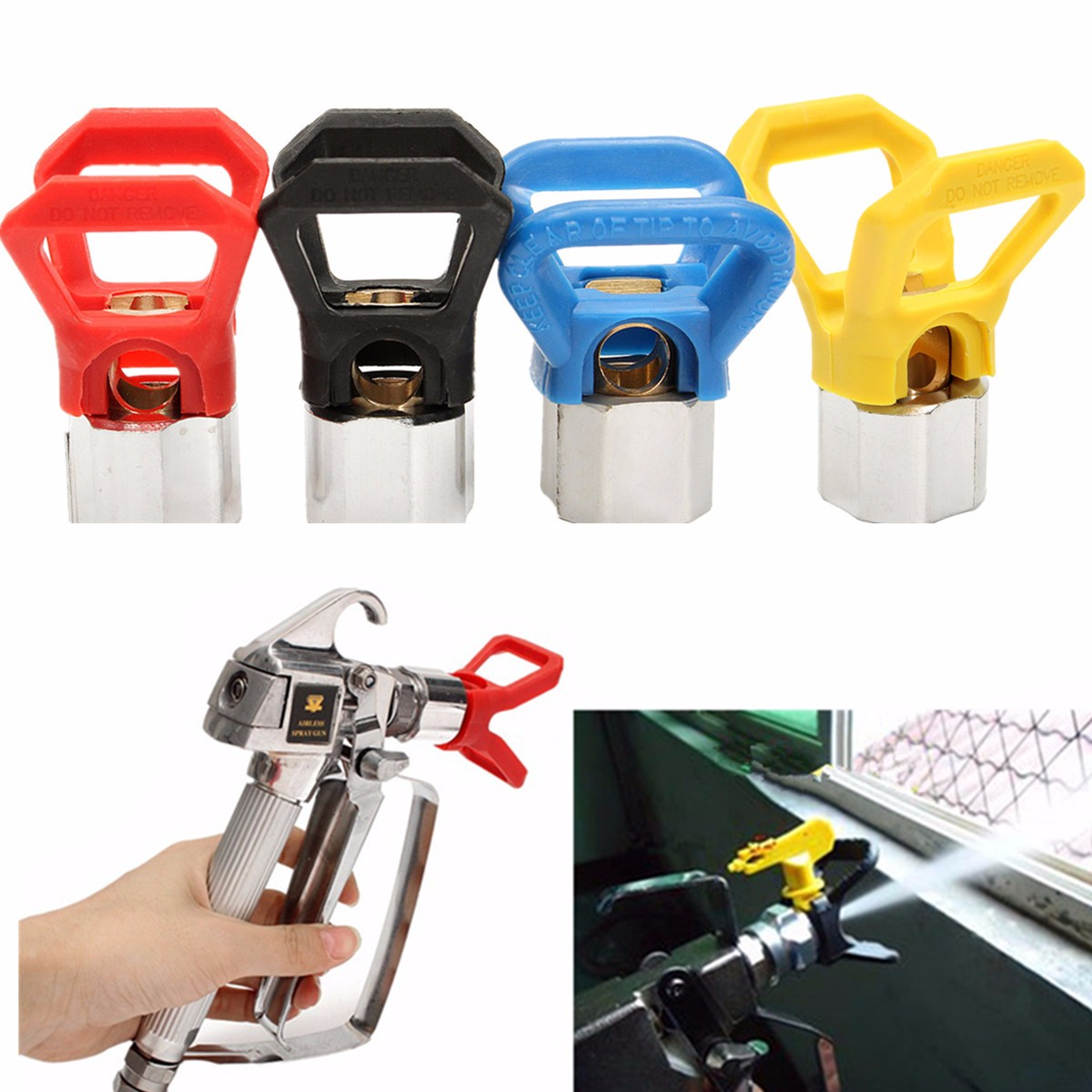 1pcs Airless Paint Contractor Flat Tip Spray Tip Guard Nozzles  For Airless Spray G Un And Paint Sprayer