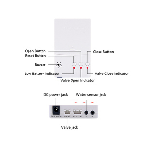 Image 3 - 러시아어/우크라이나 DN15 DN20 DN25 자동 중지 밸브와 누수 센서 스마트 홈에 대 한 누수 감지 경보 시스템