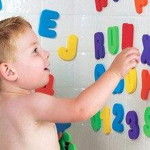 36 шт./компл. буквенно-цифровые буквы Ванна головоломка EVA дети детские игрушки новые Ранние развивающие детские ванны забавные игрушки для детей подарок