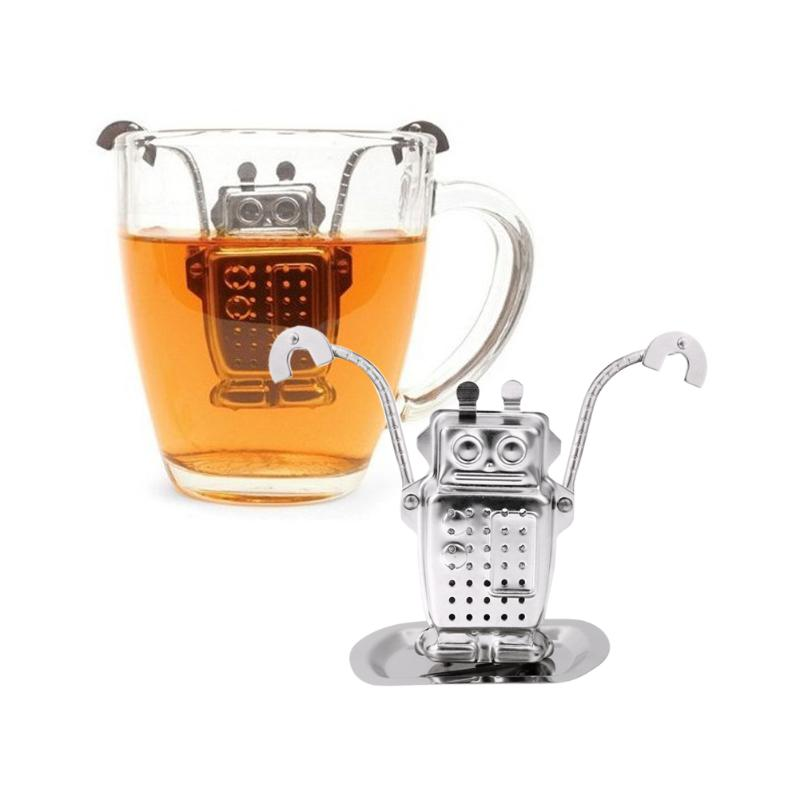 Robot Stainless Steel Tea Infuser Loose Leaf Tea Diffuser Strainer Herbal Spice Filter Drinkware Tea Accessories