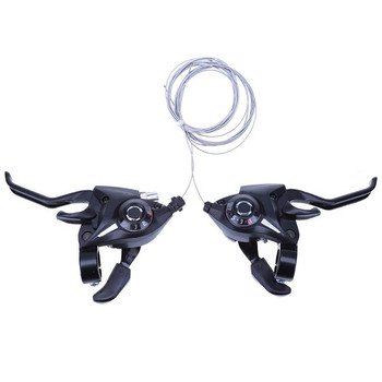 2 Bike Gear Shifters Set MTB Bicycle Gear Shifter/brake Lever Transmission 3x7 21 Speed Mountain Bike Variable Speed